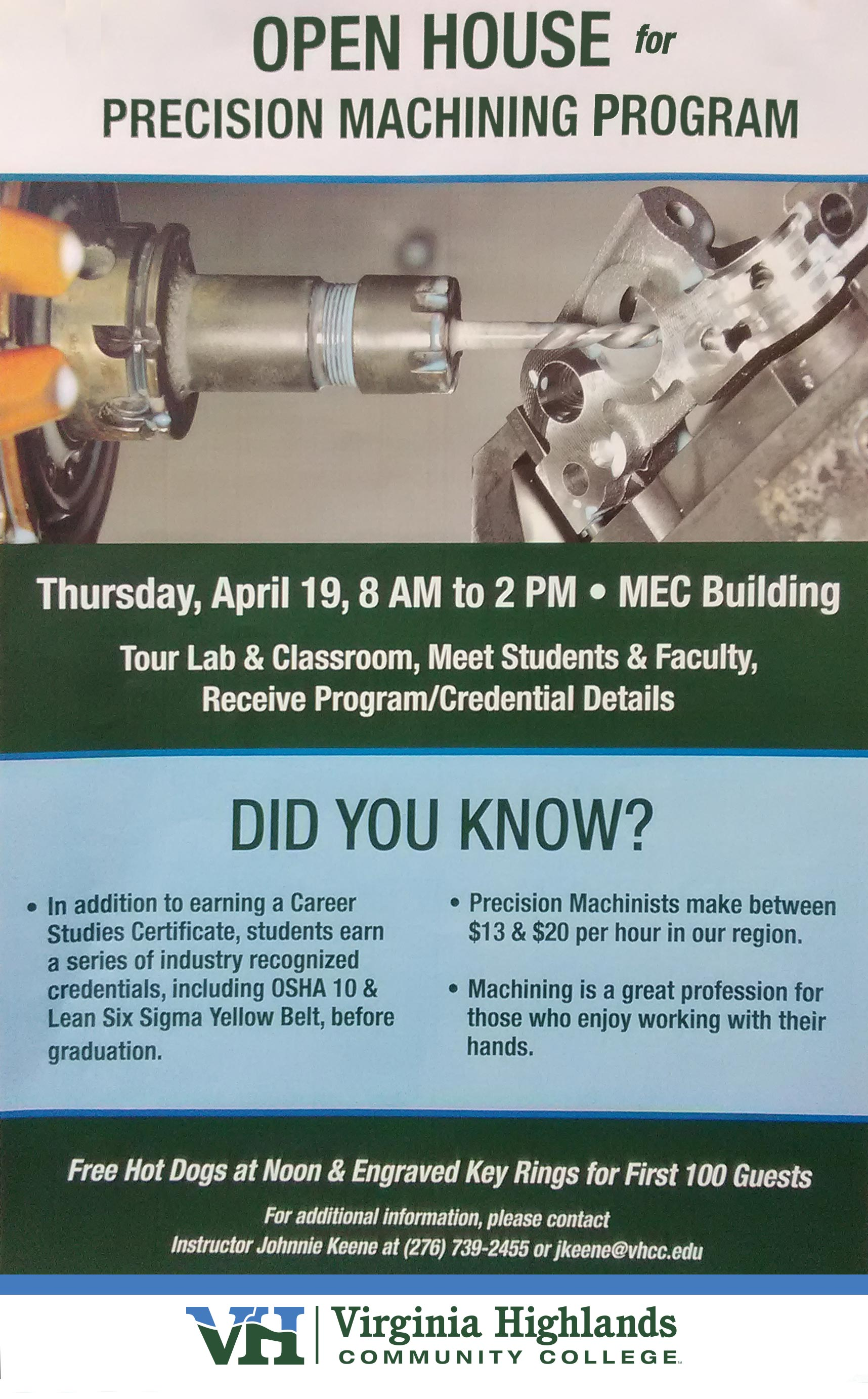 VHCC Precision Machining Program Open House