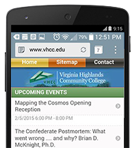 Phone with VHCC Moble Web