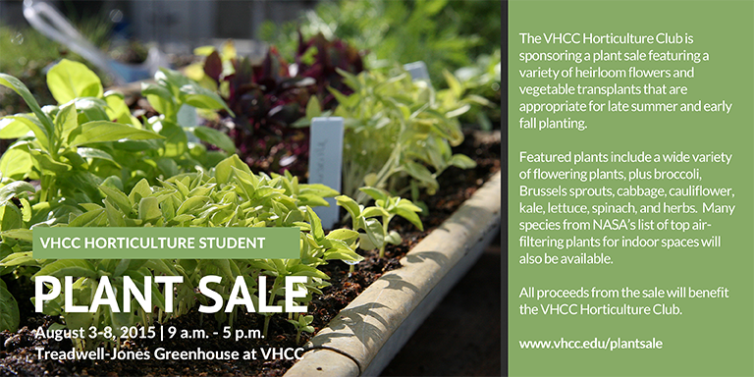 Horticulture Plant Sale August 2015
