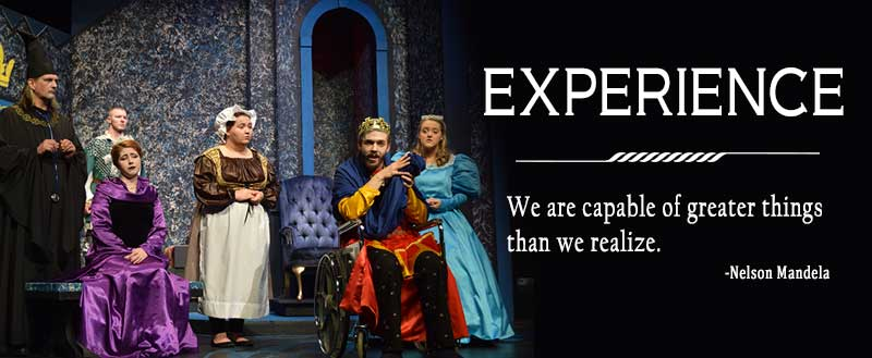 Experience--VHCC Drama Production - Exit The King