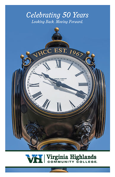VHCC Celebrating 50 Years Clock