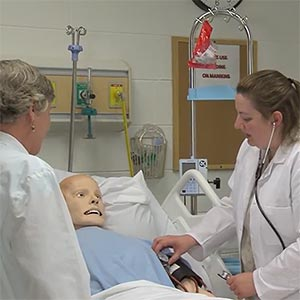 Beth Wright with nursing student