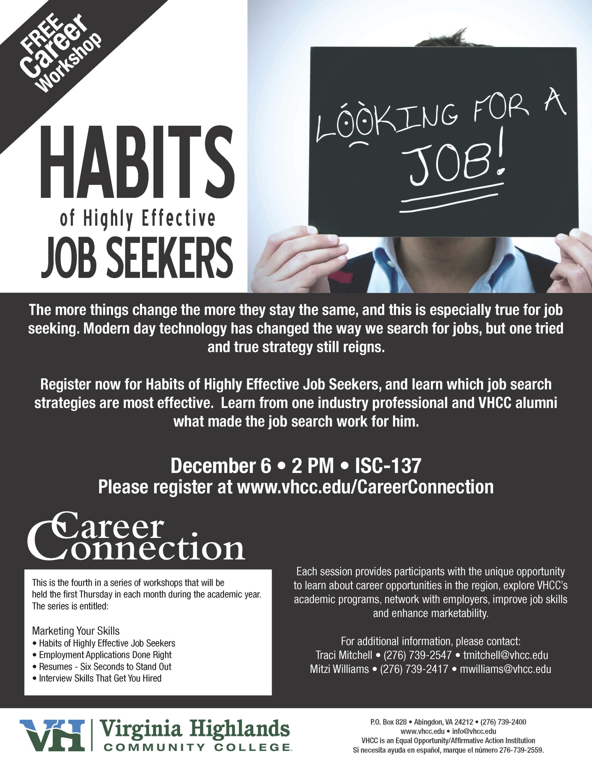 Career Connection - Habits of Highly Effective Job Seekers