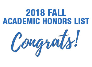 2018 FALL Academic Honors List