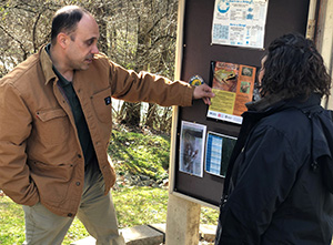 VHCC Professor of Biology Kevin Hamed in Sugar Hollow Park