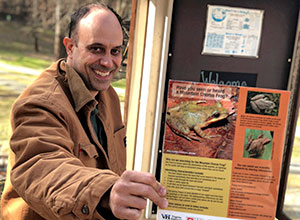 Kevin Hamed with the Mountain Chorus Frog poster