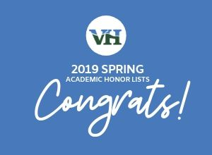 Spring 2019 Academic Honors List - Congrats!