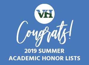 Congrats Summer 2019 Honor Roll List