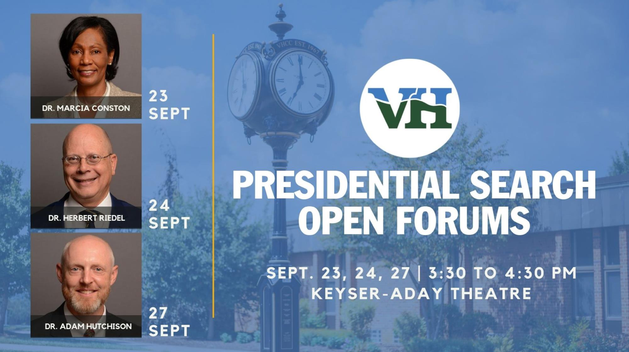 Presidential Candidates Open Forum Schedule