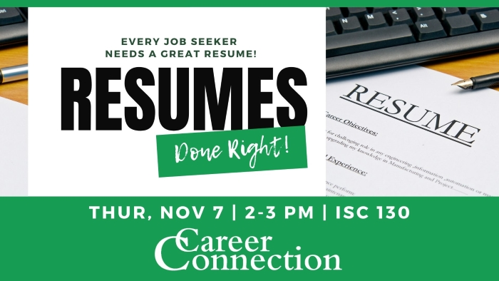 November Career Connection - Resumes Done Right!