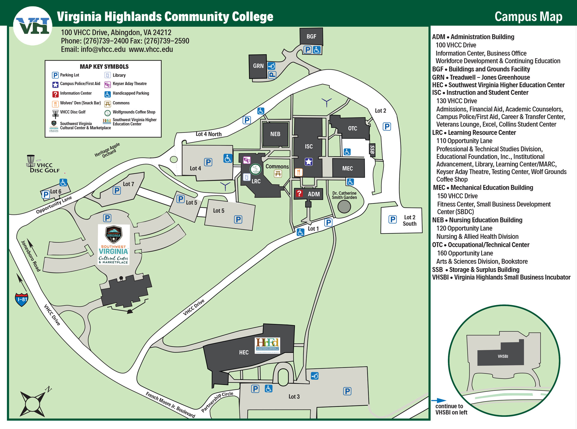 Campus Map & Directions | Virginia Highlands Community College on new orleans university campus map, morehouse school of medicine campus map, prairie view a&m university campus map, private school campus map, johnson c smith campus map, palm beach atlantic university campus map, st. cloud state university campus map, xavier university of louisiana campus map, franklin campus map, lane college campus life, harris-stowe state university campus map, california university of pennsylvania campus map, trevecca university campus map, winston salem state university campus map, charlotte campus map, north carolina central university campus map, lake superior state university campus map, eastern connecticut state university campus map, university of maryland eastern shore campus map,