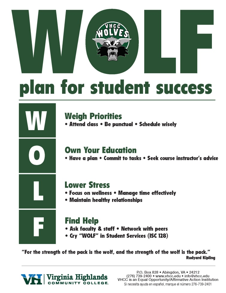 Wolf Plan for Student Success
